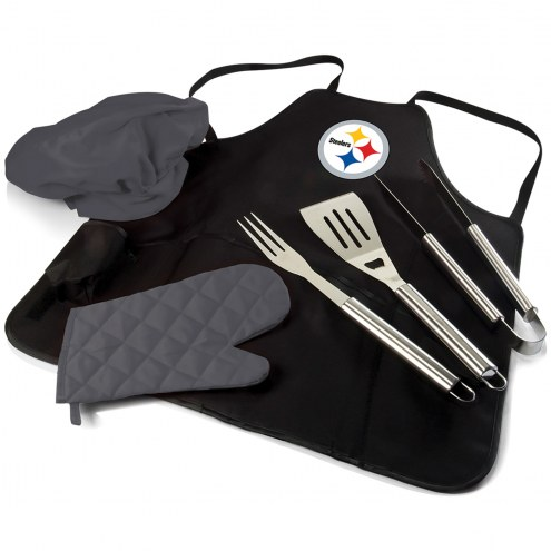 Pittsburgh Steelers BBQ Apron Tote Set