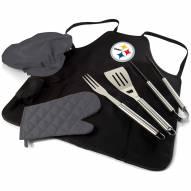 Pittsburgh Steelers BBQ Apron Tote Set
