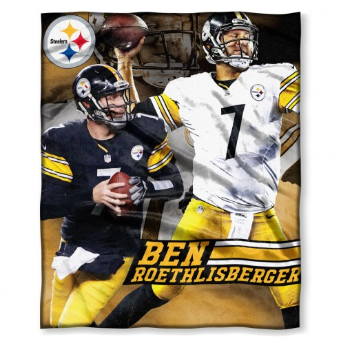 Pittsburgh Steelers Ben Roethlisberger Silk Touch Blanket