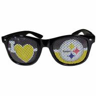 Pittsburgh Steelers Black I Heart Game Day Shades