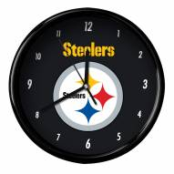 Pittsburgh Steelers Black Rim Clock