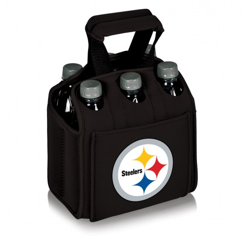 Pittsburgh Steelers Black Six Pack Cooler Tote