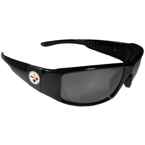 Pittsburgh Steelers Black Wrap Sunglasses