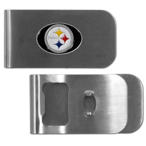 Pittsburgh Steelers Bottle Opener Money Clip