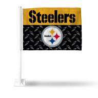Pittsburgh Steelers Black Car Flag