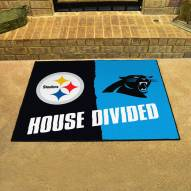 Pittsburgh Steelers/Carolina Panthers House Divided Mat