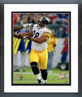Pittsburgh Steelers Casey Hampton Action Framed Photo