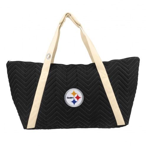 Pittsburgh Steelers Chevron Stitch Weekender Bag