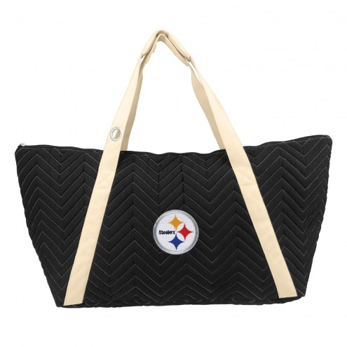 Pittsburgh Steelers Chevron Stitch Weekender Bag