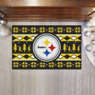 Pittsburgh Steelers Christmas Sweater Starter Rug