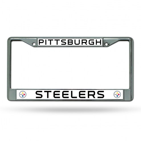 Pittsburgh Steelers Chrome License Plate Frame