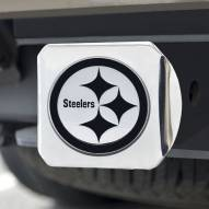 Pittsburgh Steelers Chrome Metal Hitch Cover
