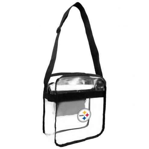 Pittsburgh Steelers Clear Crossbody Carry-All Bag