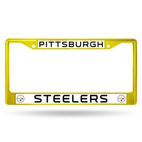 Pittsburgh Steelers Color Metal License Plate Frame