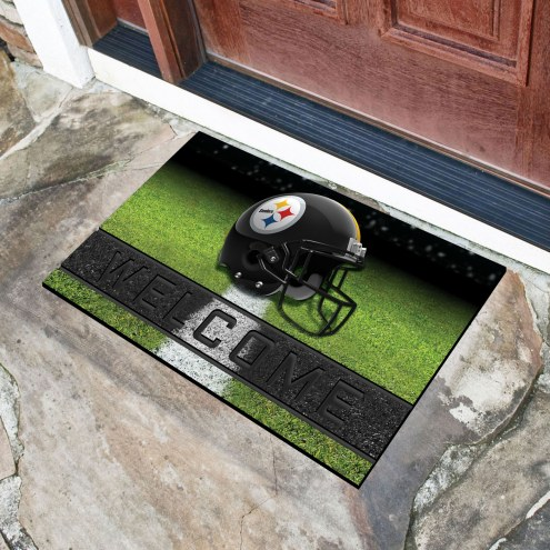 Pittsburgh Steelers Crumb Rubber Door Mat