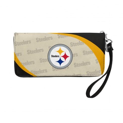 Pittsburgh Steelers Curve Zip Organizer Wallet
