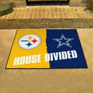 Pittsburgh Steelers/Dallas Cowboys House Divided Mat