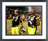 Pittsburgh Steelers Darnell Stapleton & Trai Essex 2008 AFC Championship Framed Photo
