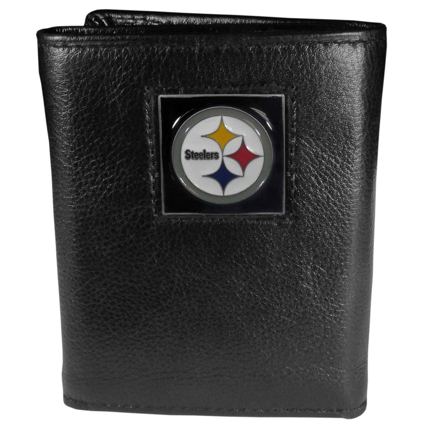 Pittsburgh Steelers Deluxe Leather Tri-fold Wallet in Gift Box 4deeb4094