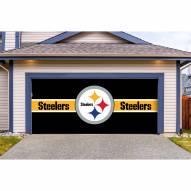 Pittsburgh Steelers Double Garage Door Cover