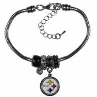 Pittsburgh Steelers Euro Bead Bracelet
