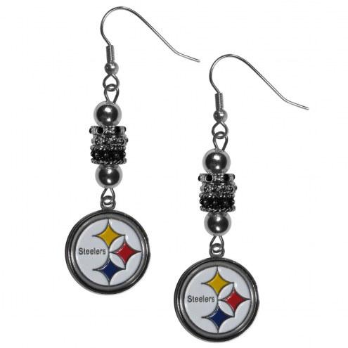 Pittsburgh Steelers Euro Bead Earrings