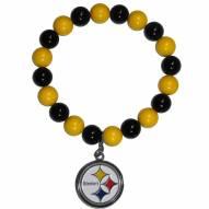 Pittsburgh Steelers Fan Bead Bracelet
