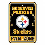 Pittsburgh Steelers Fan Zone Parking Sign