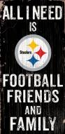 Pittsburgh Steelers Football, Friends & Family Wood Sign