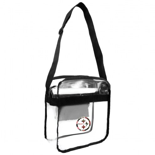 Pittsburgh Steelers Floral Clear Crossbody Carry-All Bag