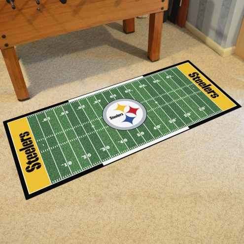 Pittsburgh Steelers Football Field Runner Rug