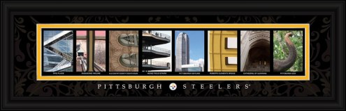 Pittsburgh Steelers Framed Letter Art