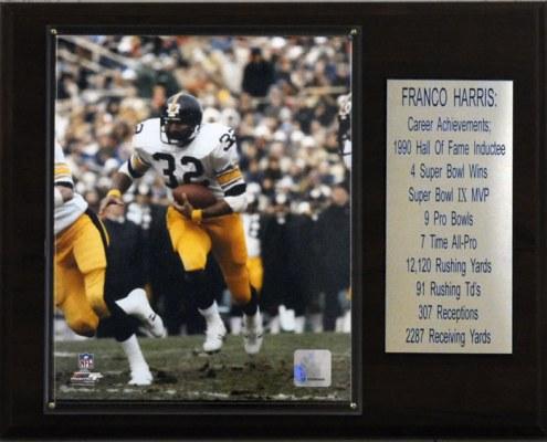 "Pittsburgh Steelers Franco Harris 12"" x 15"" Career Stat Plaque"