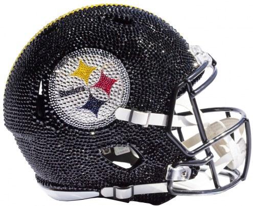 Pittsburgh Steelers Full Size Swarovski Crystal Football Helmet