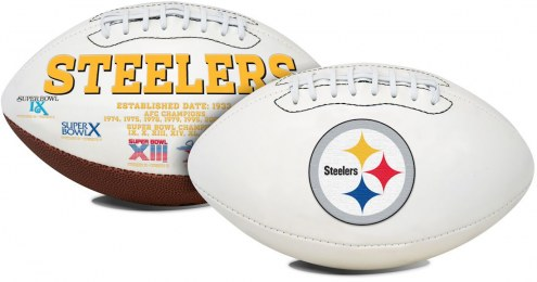 Pittsburgh Steelers Full Size Embroidered Signature Series Football