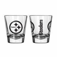 Pittsburgh Steelers Satin Etch Shot Glass Set