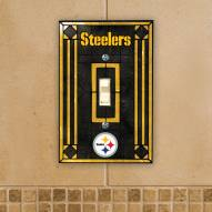 Pittsburgh Steelers Glass Single Light Switch Plate Cover