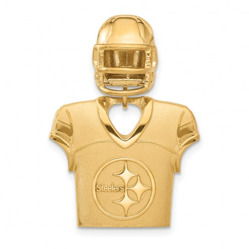 Pittsburgh Steelers Gold Plated Jersey & Helmet Pendant