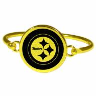Pittsburgh Steelers Gold Tone Bangle Bracelet