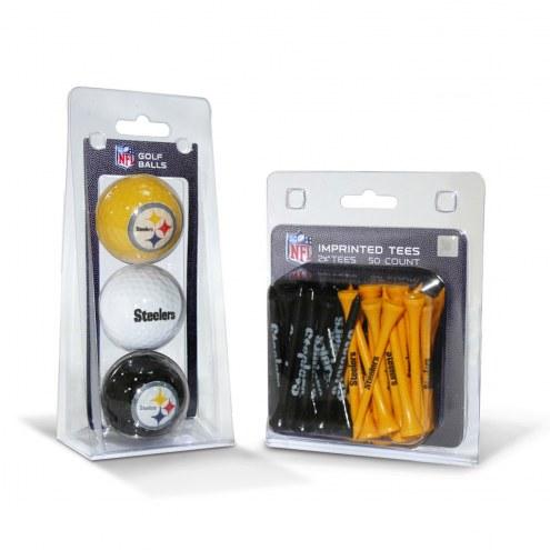 Pittsburgh Steelers Golf Ball & Tee Pack