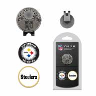 Pittsburgh Steelers Hat Clip & Marker Set