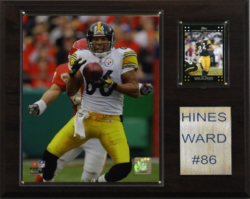 """Pittsburgh Steelers Hines Ward 12 x 15"""" Player Plaque"""
