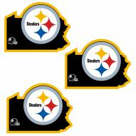 Pittsburgh Steelers Home State Decal - 3 Pack
