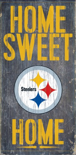 Pittsburgh Steelers Home Sweet Home Wood Sign