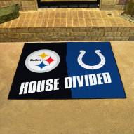 Pittsburgh Steelers/Indianapolis Colts House Divided Mat