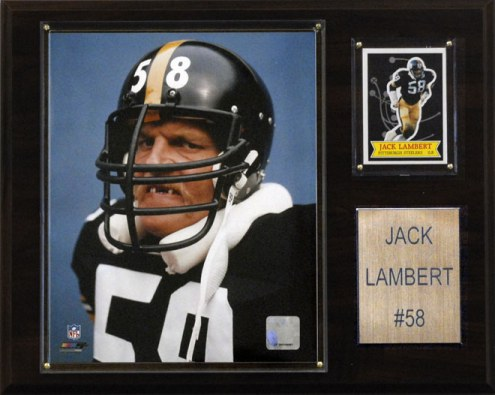 "Pittsburgh Steelers Jack Lambert 12 x 15"" Player Plaque"
