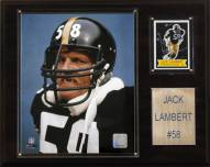 "Pittsburgh Steelers Jack Lambert 12 x 15"" Player Plaque"