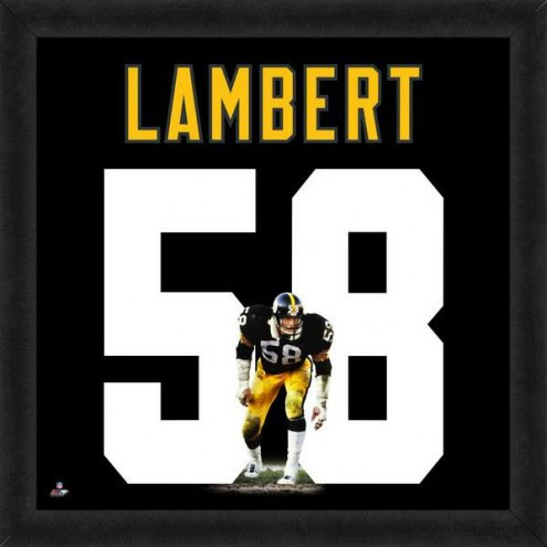 Pittsburgh Steelers Jack Lambert Uniframe Framed Jersey Photo