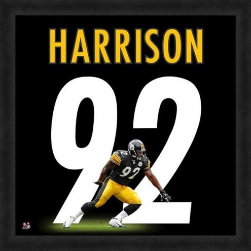 Pittsburgh Steelers James Harrison Uniframe Framed Jersey Photo