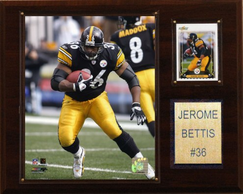 """Pittsburgh Steelers Jerome Bettis 12 x 15"""" Player Plaque"""